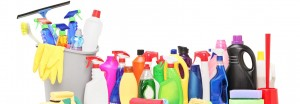 Cleaning Supplies Footer