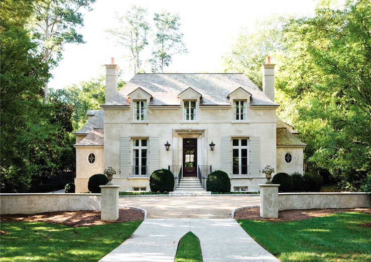 superb Beautiful House Exterior Part - 13: beautiful-house-exteriors-french-chateau-french-home-exterior -atlanta-homes-lifestyles-on-excellent-exterior
